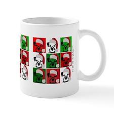Holiday Santa Dog Bowl small Mug