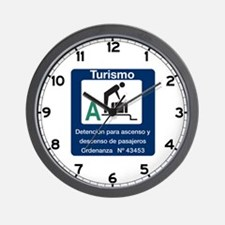 Turist Stop Point, Argentina Wall Clock