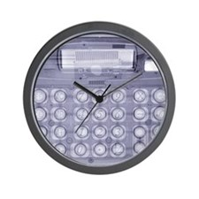 Calculator, simulated X-ray Wall Clock