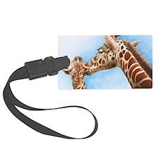 Giraffe and Calf Large Framed Pr Luggage Tag
