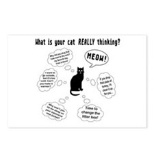 What is your cat thinking? Postcards (Package of 8