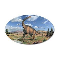 Brachiosaurus 35x21 Oval Wall Decal