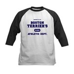 Boston Terrier Kids Baseball Jersey