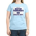 Boston Terrier Women's Pink T-Shirt