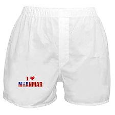 I love Myanmar Boxer Shorts