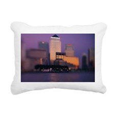 Canary Wharf skyscrapers Rectangular Canvas Pillow