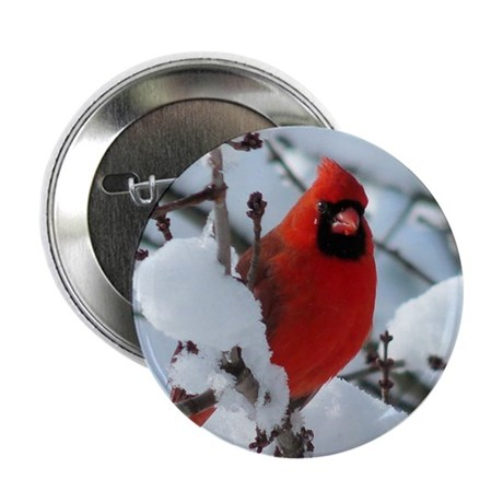 "Snow Cardinal 2.25"" Button"