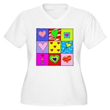 Lots of Love Women's Plus Size V-Neck T-Shirt