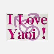 I Love Yaoi ! Rectangle Magnet