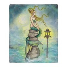 Mermaid Fantasy Art Throw Blanket
