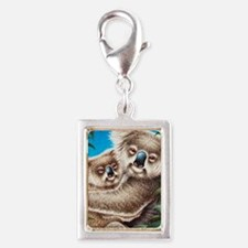 Koala and Baby iPad Mini Silver Portrait Charm