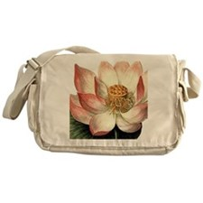 Botanical Lotus Messenger Bag