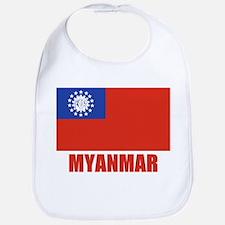 Myanmar Flag Bib