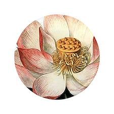 """Botanical Lotus 3.5"""" Button"""
