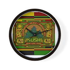Kush 420 Shower Curtain Wall Clock