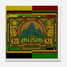 Kush 420 Shower Curtain Tile Coaster