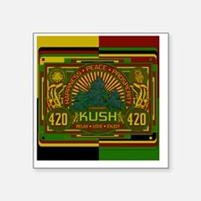 "Kush 420 Shower Curtain Square Sticker 3"" x 3"""