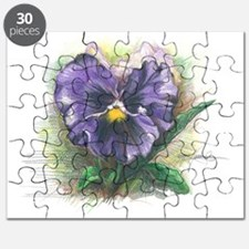 Purple pansy Puzzle
