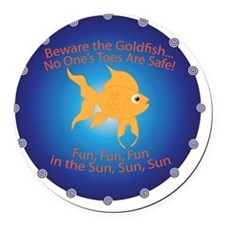 Goldfish Round Car Magnet
