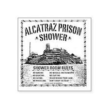 """Alcatraz Shower Curtain Square Sticker 3"""" x 3"""""""