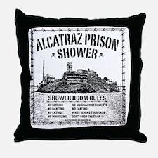Alcatraz Shower Curtain Throw Pillow