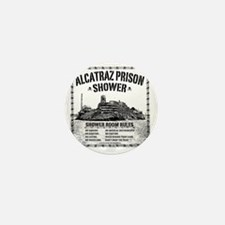 Alcatraz Shower Curtain Mini Button