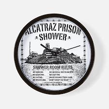 Alcatraz Shower Curtain Wall Clock