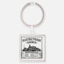 Alcatraz Shower Curtain Square Keychain