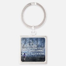 2013 Life Isnt About Waiting For T Square Keychain
