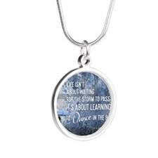 2013 Life Isnt About Waiting Silver Round Necklace