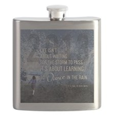 2013 Life Isnt About Waiting For The Storm T Flask