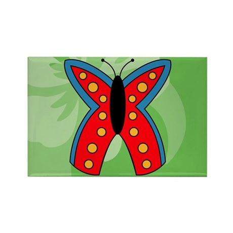 Butterfly Rectangular Hitch Cover Rectangle Magnet