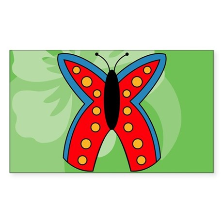 Butterfly Rectangular Hitch Co Sticker (Rectangle)