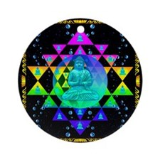 Buddha Shower Curtain Round Ornament