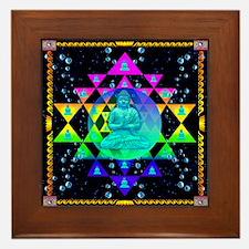 Buddha Shower Curtain Framed Tile