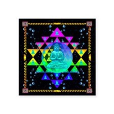 "Buddha Shower Curtain Square Sticker 3"" x 3"""