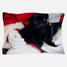 Pug Puppy Christmas Pillow Case