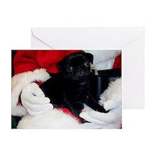 Pug Puppy Christmas Greeting Card