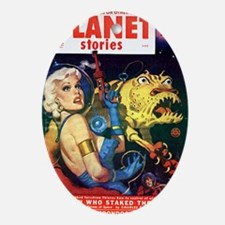 planet stories Oval Ornament