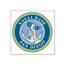 "Naval Base San Diego Square Sticker 3"" x 3"""