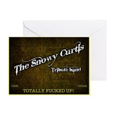 Snowy Curtis 'Original' Band Logo Greeting Card