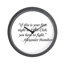 Fight Club - Alexander Hamilton Wall Clock