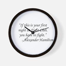 Fight Club - Alexander Hamilton Wall Clock