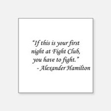 "Fight Club - Alexander Hami Square Sticker 3"" x 3"""