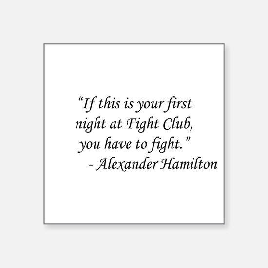 "Fight Club - Alexander Hami Square Sticker 3"" x 3"""