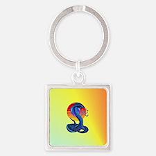 Jewel Heart Jewel Year Of The Snak Square Keychain