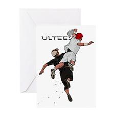 Bid over shoulder+Ultees Greeting Card