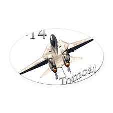 F-14 Oval Car Magnet