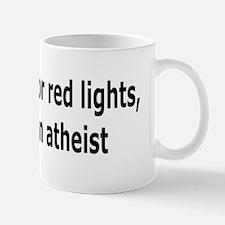 Red Lights Atheist bumper Mug