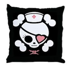 molly-rn-heart-CRDh Throw Pillow